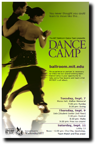 Dance Camp Flyer